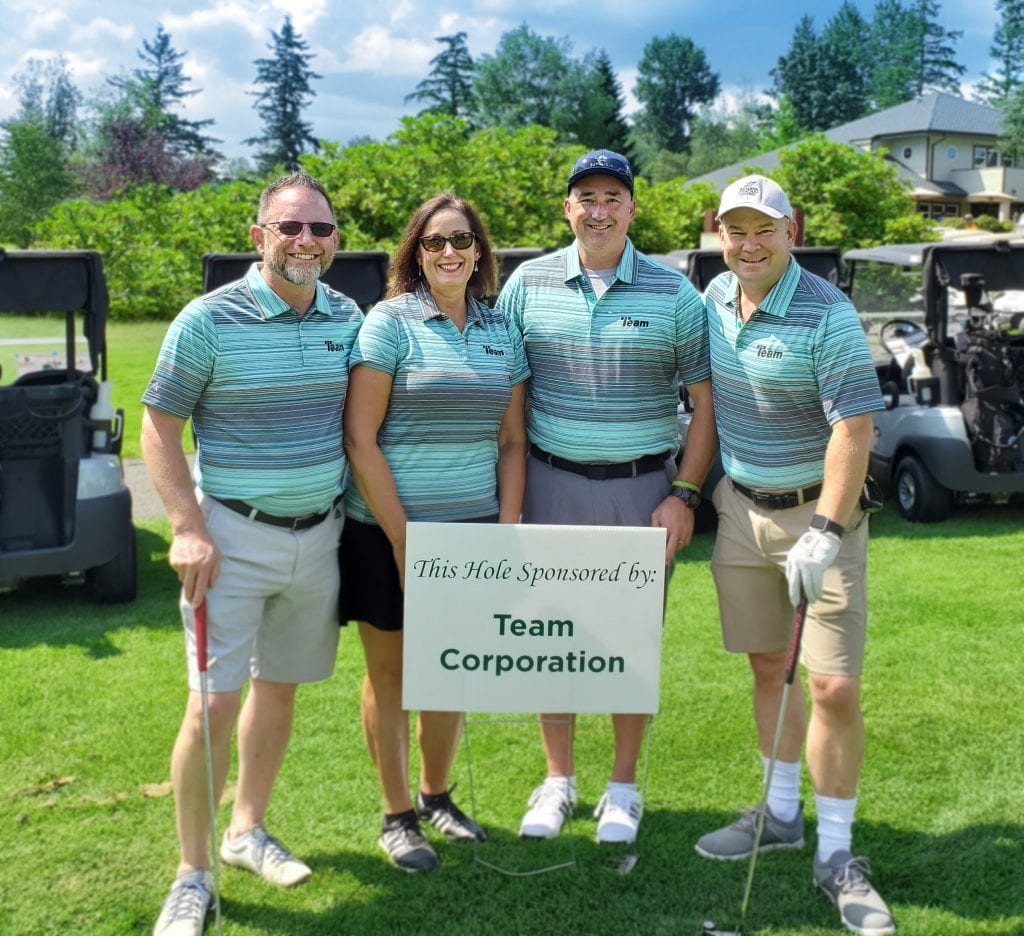 Team Corporation mixed division team at the 32nd Annual EDASC Golf Tournament.