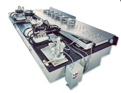 Horizontal vibration test system from Team Corporation.