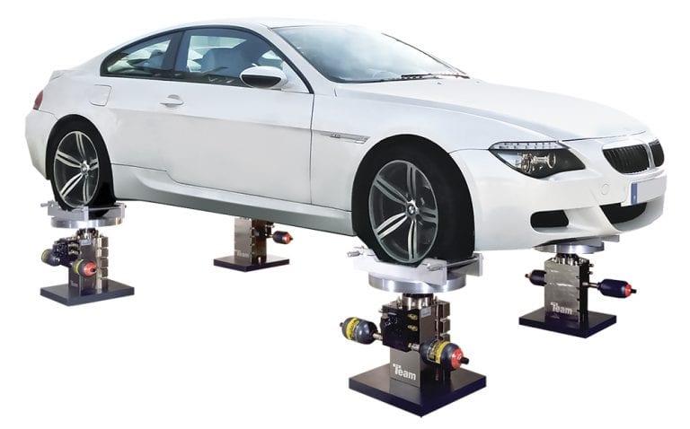 4-poster vehicle NVH vibration test system Team Corporation