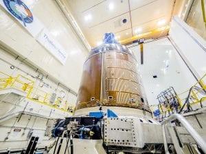 NASA Orion on Team Corporation Mdof Vibration Table – Mechanical Vibration Facility (MVF)