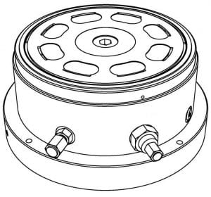 Team Corporation Hydrostatic Pad Bearing Drawing