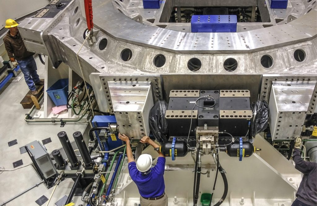 NASA multi-degree of freedom Vibration testing system by Team Corporation