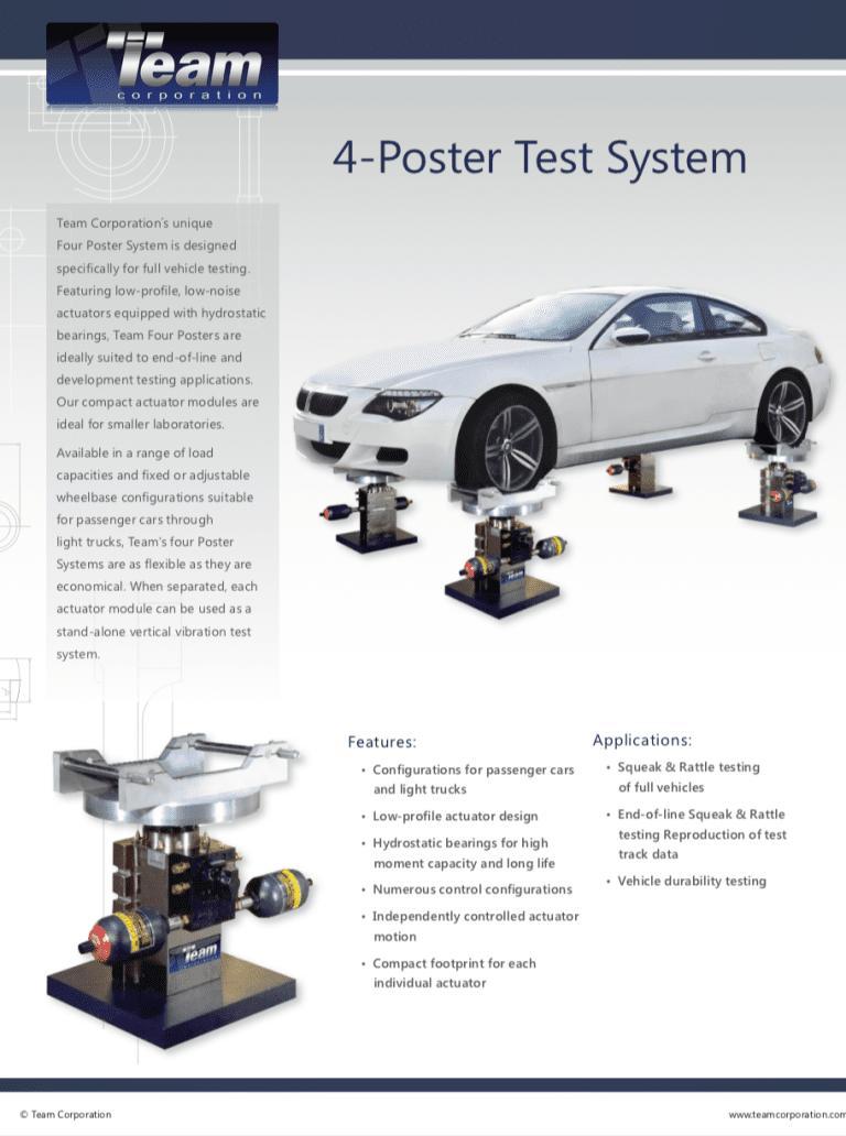 Team-Corporation-4-Poster-vehicle-vibration-test-system brochure