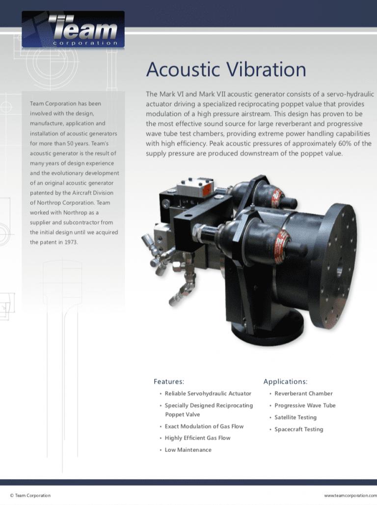 Team-Corporation-Acoustic-Vibration-Generator brochure