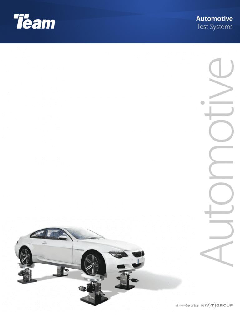 Team-Corporation-Automotive-Vibration-Test-Systems Brochure