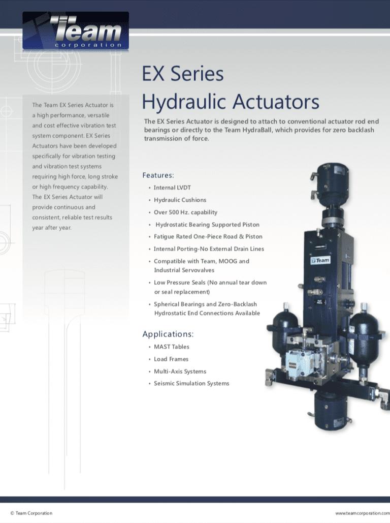 Team-Corporation-EX-Series-Hydraulic-Actuators brochure