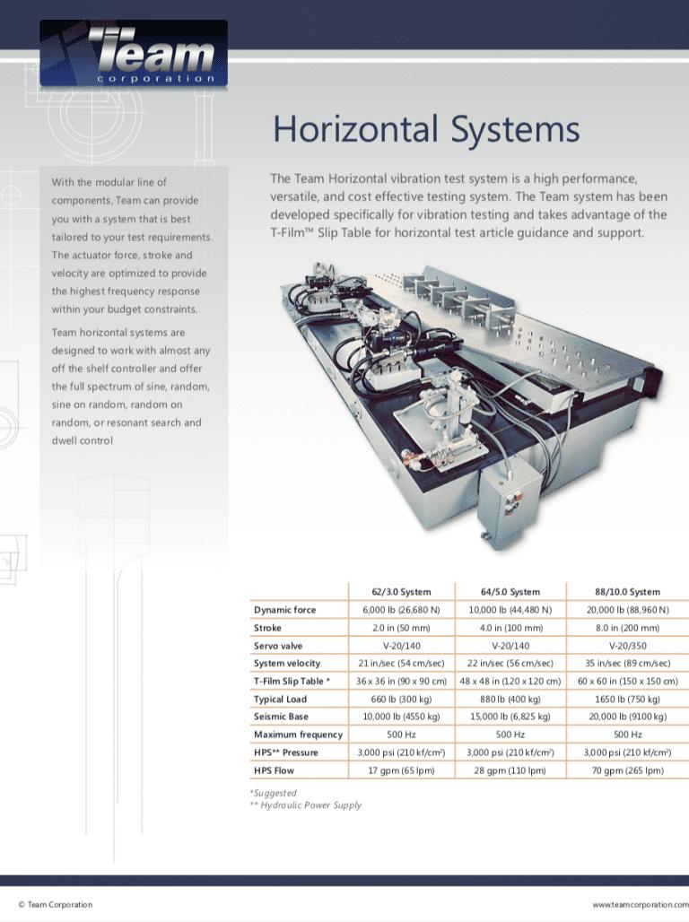 Team-Corporation-Horizontal-Vibration-Test-Systems brochure
