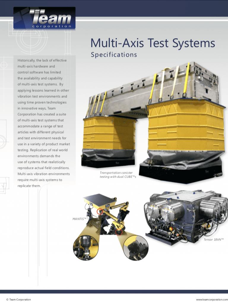 Team-Corporation-Multi-Axis-Vibration-Test-Systems brochure