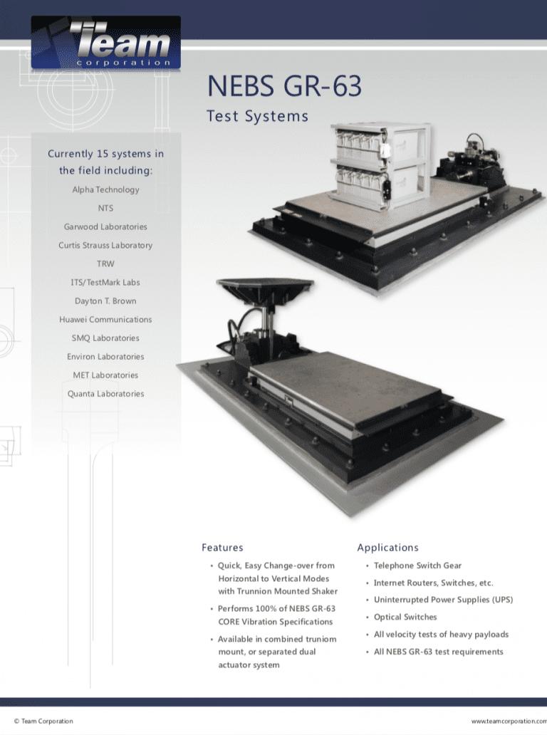 Team-Corporation-NEBS-GR-63-Test-Systems brochure