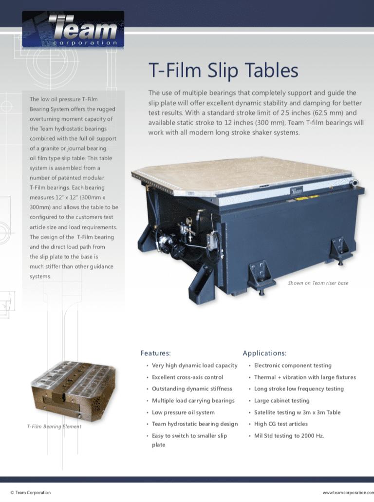 Team-Corporation-T-Film-Slip-Tables brochure