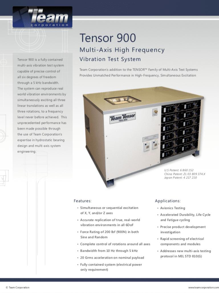 Team-Corporation-Tensor-TE900-multi-axis-vibration brochure