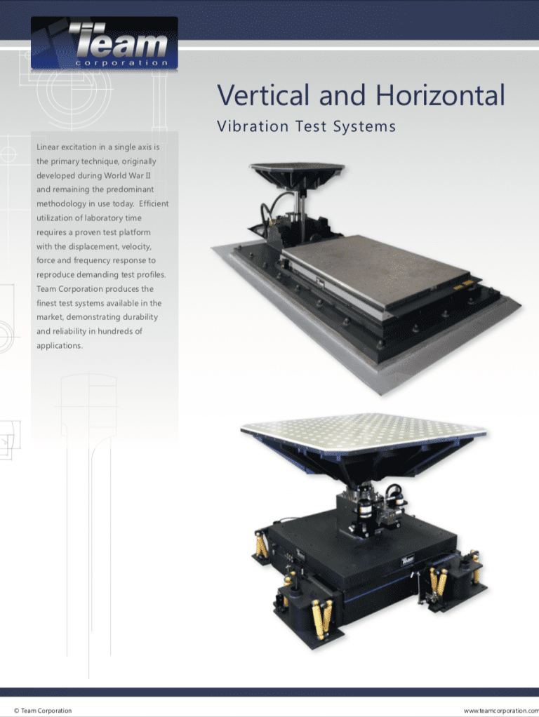 Team-Corporation-Vertical-and-Horizontal-Vibration-Test-Systems brochure
